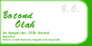 botond olah business card